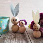 Osterhasen aus Holzperlen basteln – DIY