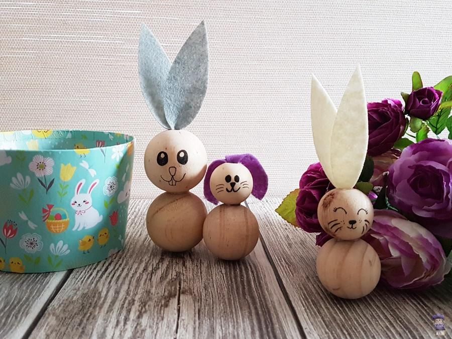 DIY Ostern Osterhasen Hasen Basteln aus Perlen mit Kindern 10