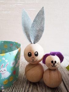 DIY Ostern Osterhasen Hasen Basteln aus Perlen mit Kindern 11