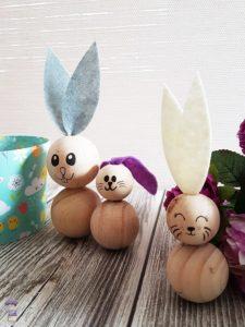 DIY Ostern Osterhasen Hasen Basteln aus Perlen mit Kindern 12