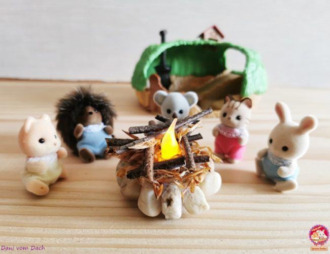 DIY Feuerstelle Sylvanian Families Baby Igelhoehle 16