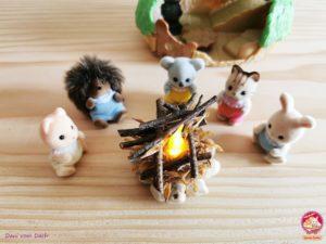 DIY Feuerstelle Sylvanian Families Baby Igelhoehle 17