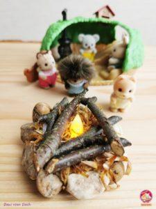 DIY Feuerstelle Sylvanian Families Baby Igelhoehle 22