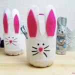 Osterkörbchen aus Plastikflasche basteln – Upcycling DIY