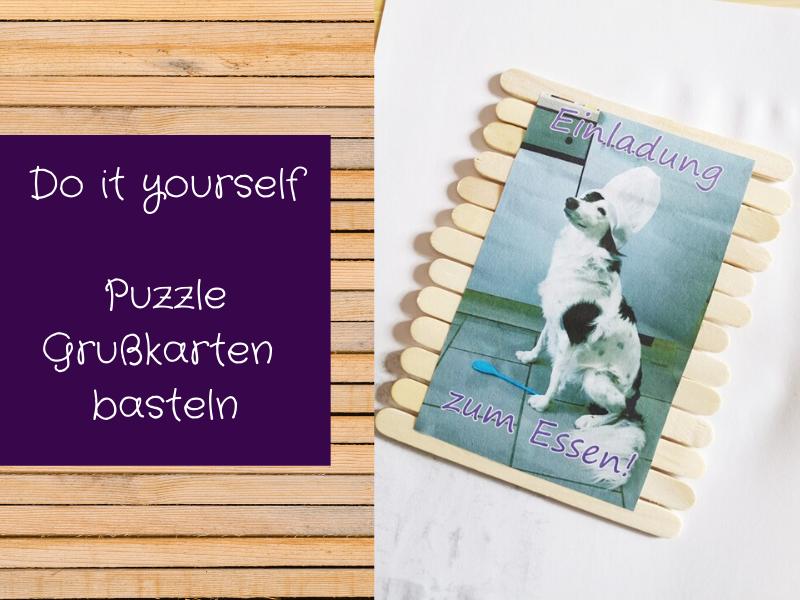 Puzzle Grußkarten basteln