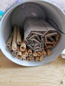 Upcycling Insektenhotel aus Dose basteln 07