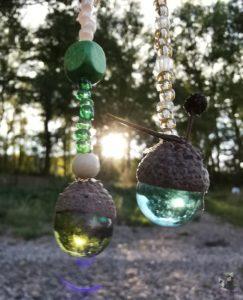 DIY Herbst Mobile Glasmurmel basteln 25