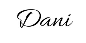 Schriftzug Dani