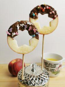 DIY Apfel Lolli mit Schokolade 09
